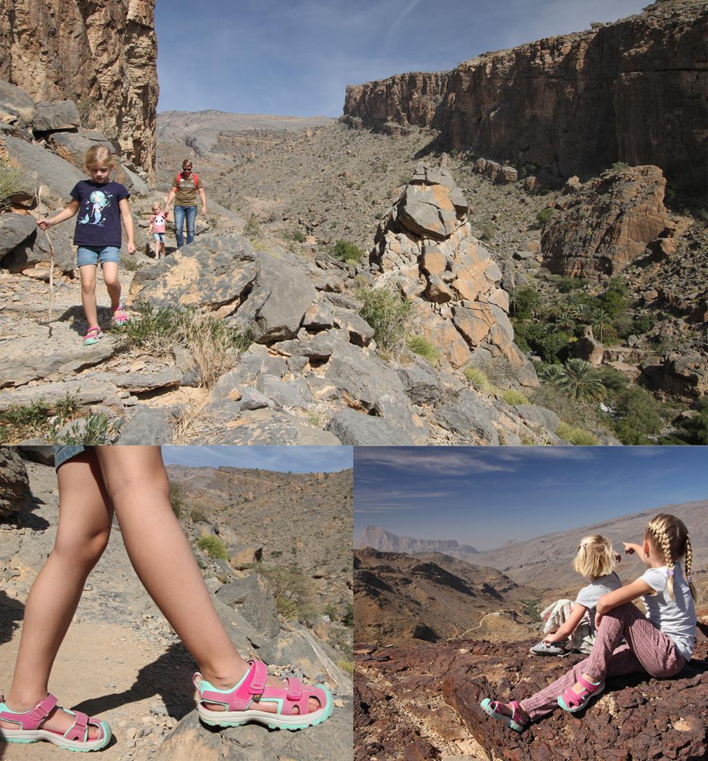 Oman met kinderen - wandelen