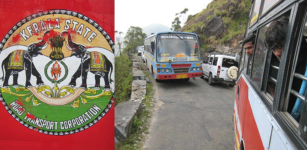 Op weg naar Munnar, Kerala
