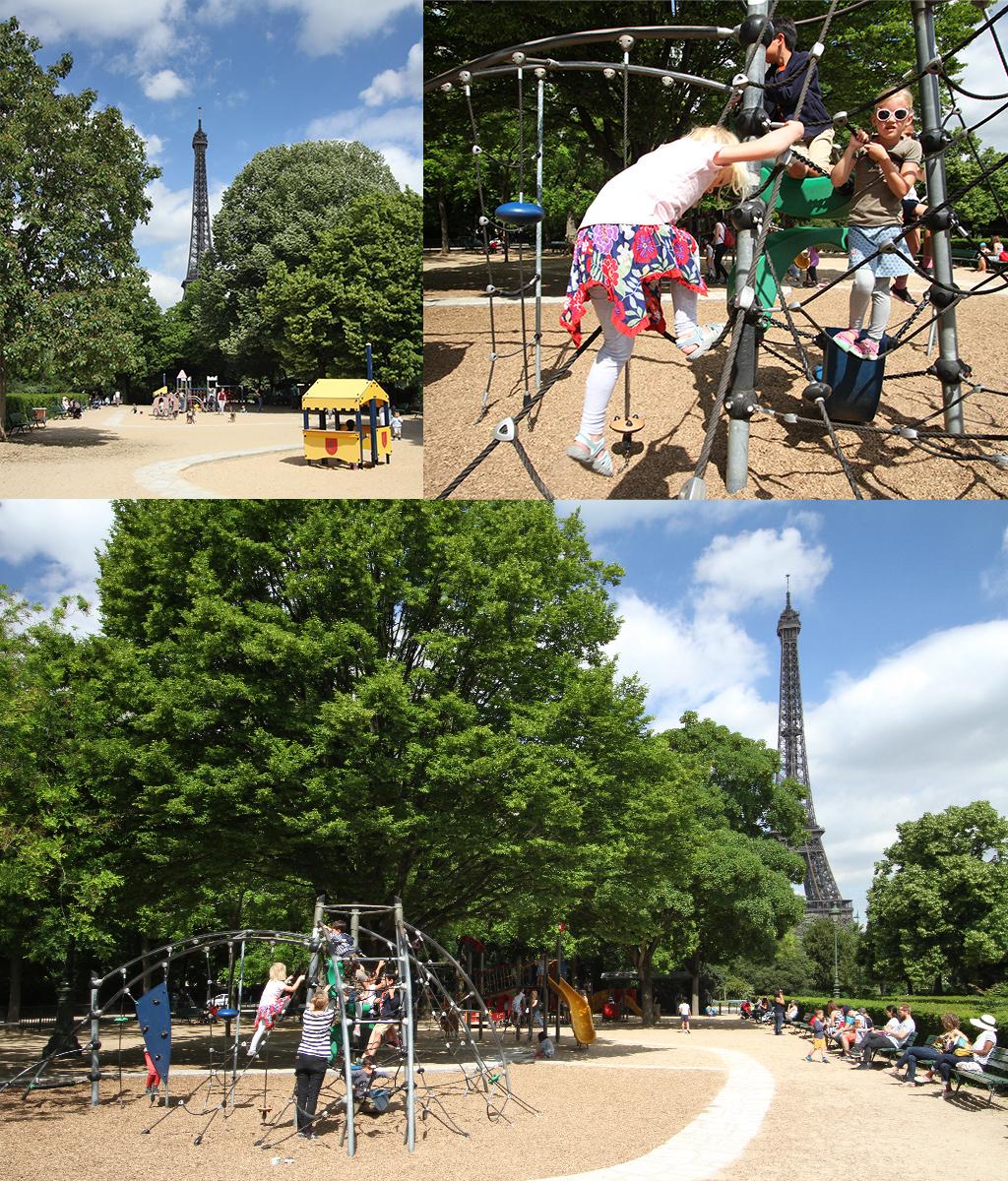 Parijs met kinderen - speeltuin Eiffeltoren