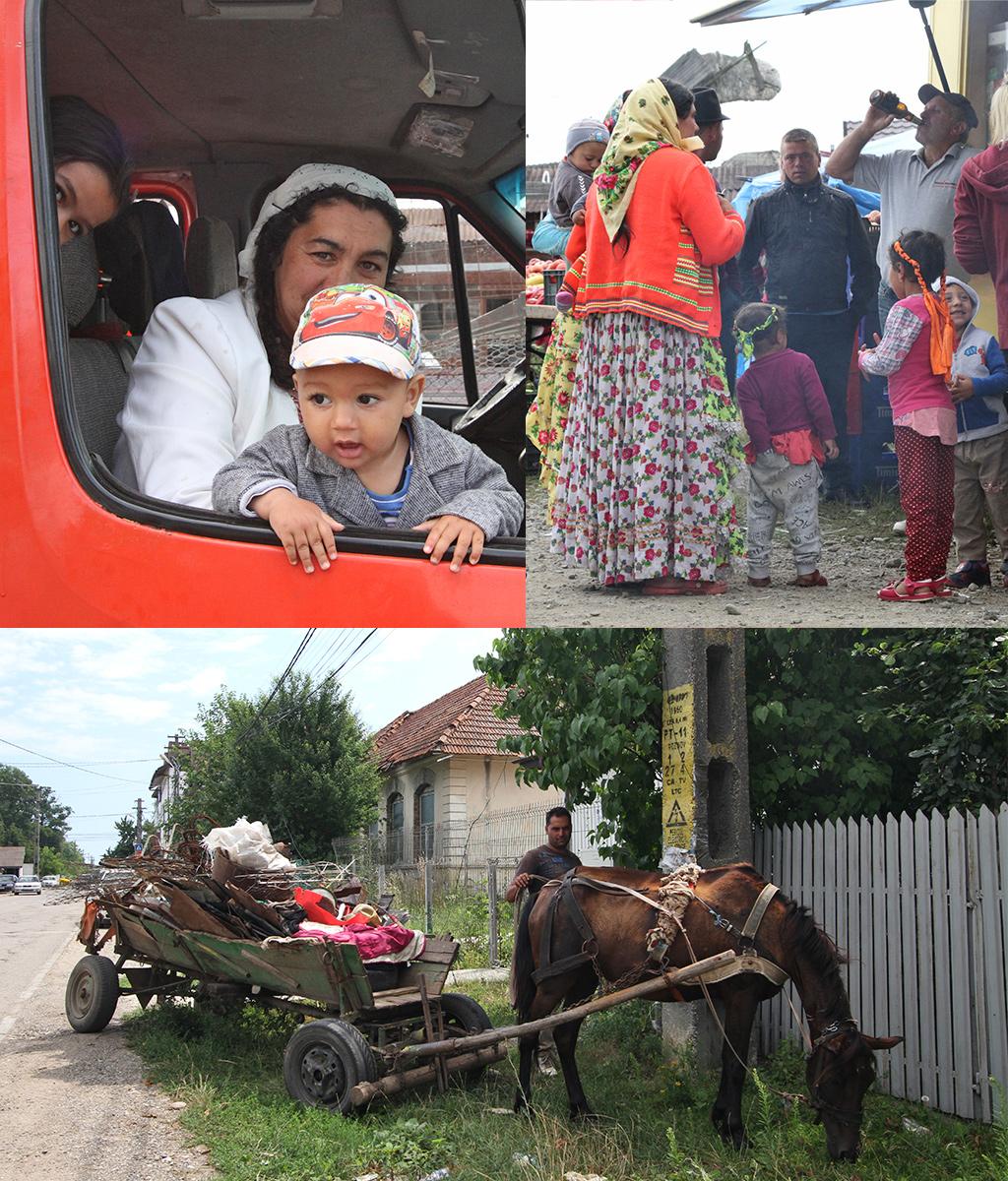 Roma onderweg met hun handel