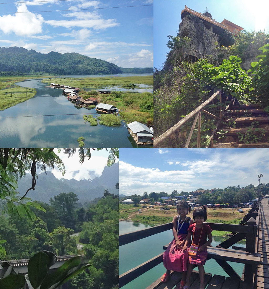 Sangklaburi Thailand zonder toeristen
