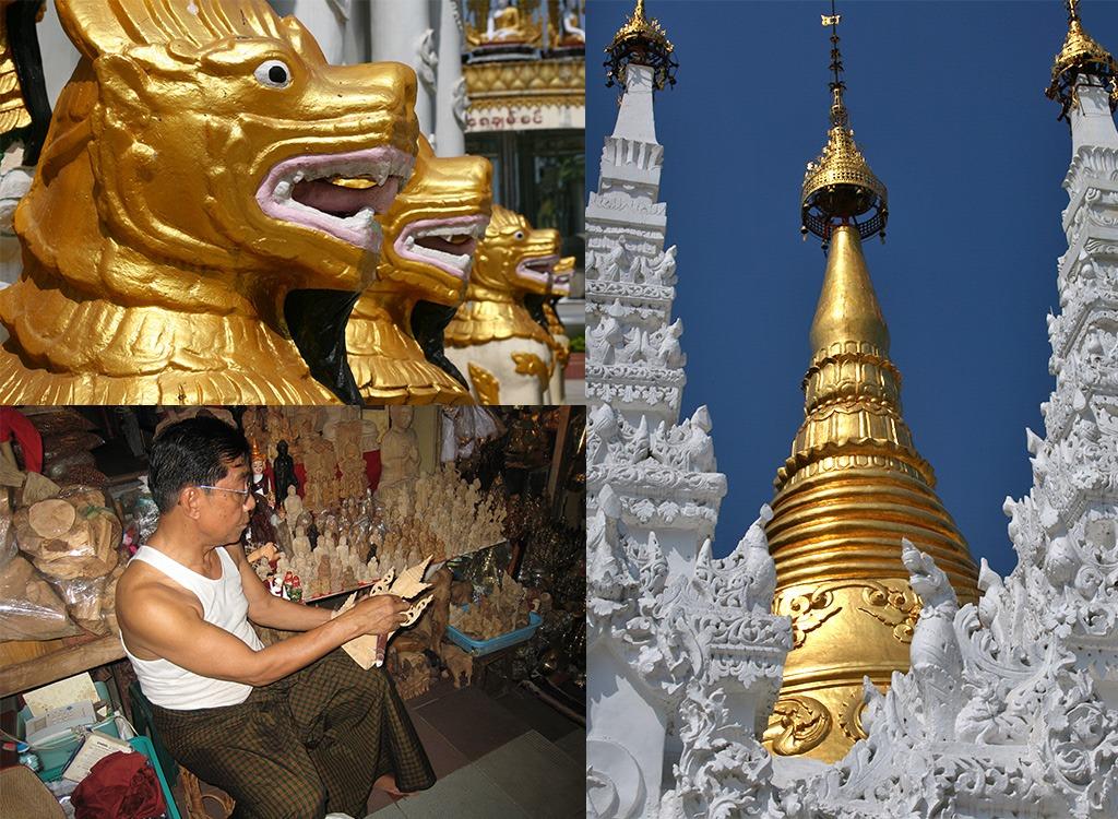 route Myanmar - Shwedagon Pagode Yangon