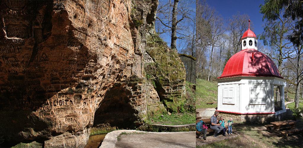 Sigulda Gutmanis grot en theehuisje
