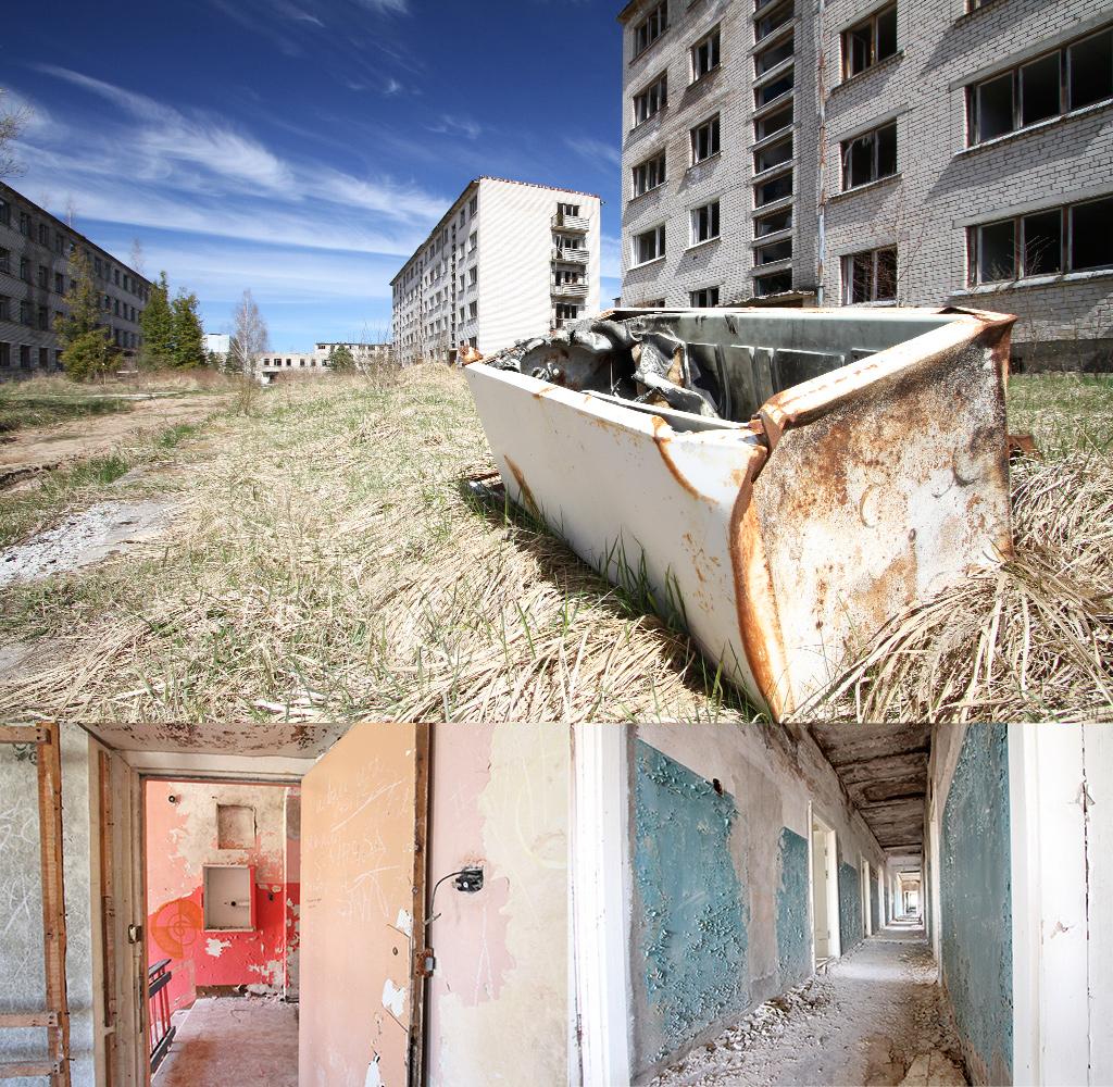 Skrunda1 vele gebouwen werden snel neergezet