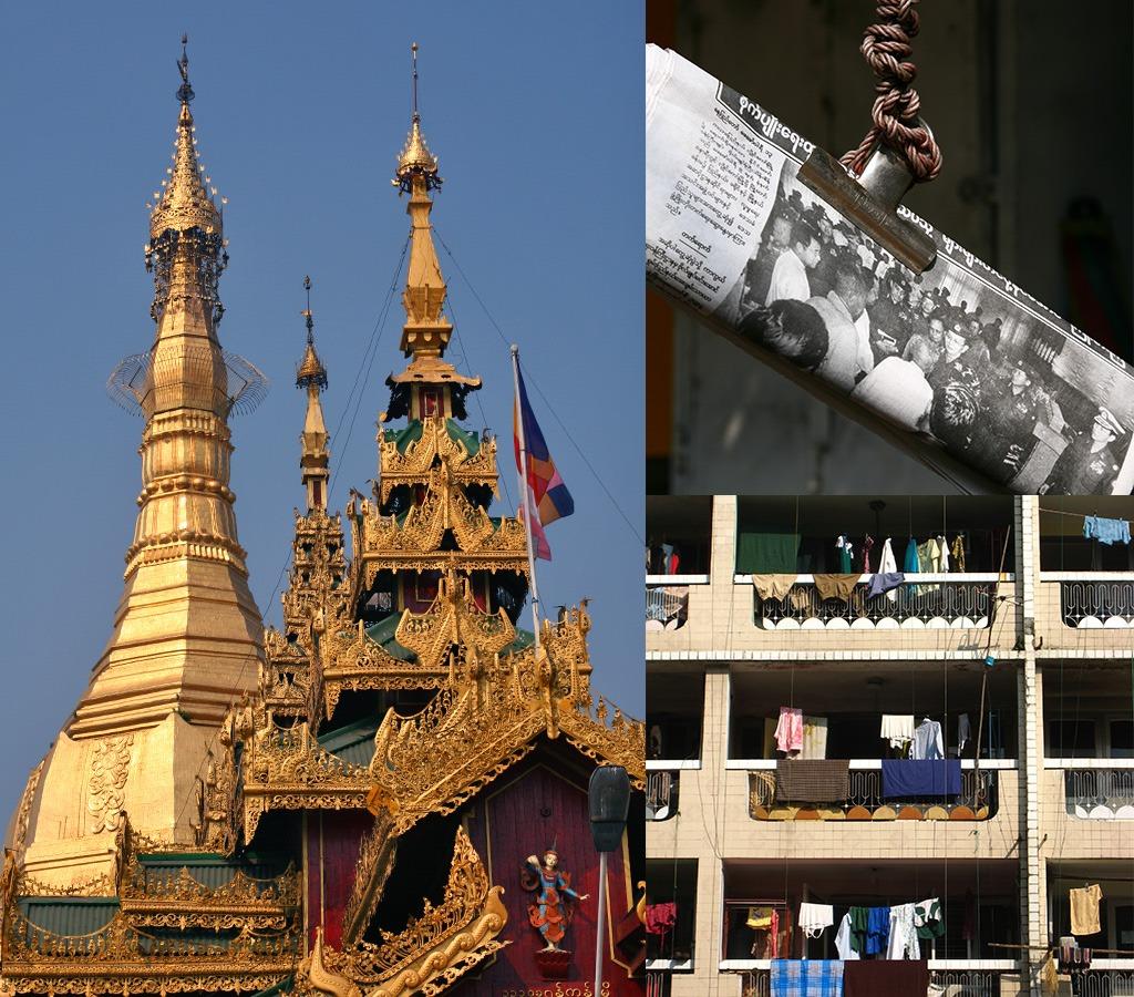 Sule Pagode en krantensysteem Yangon