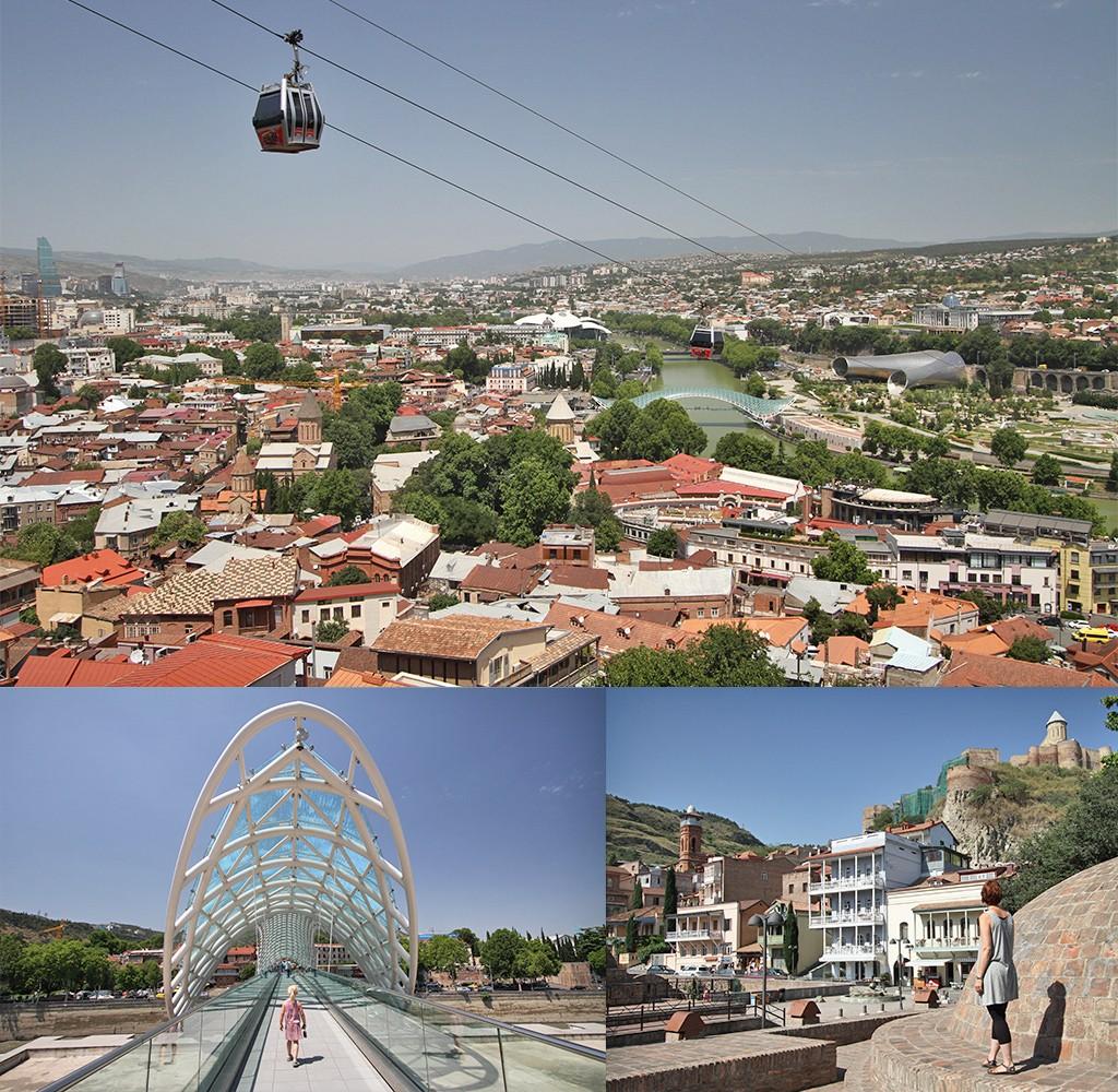 Tbilisi oude stad met moderne details