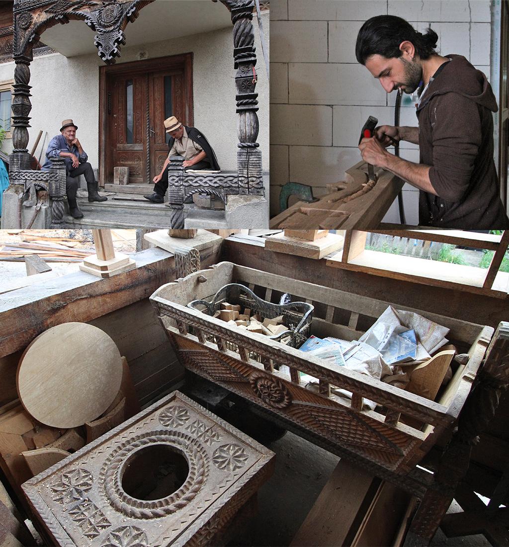 Toader Barsan houtbewerking Barsana