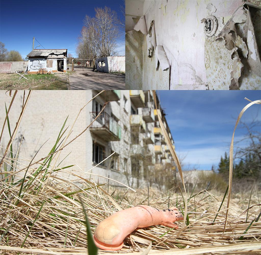 Toegangspoort Skrunda1 en eerste flats