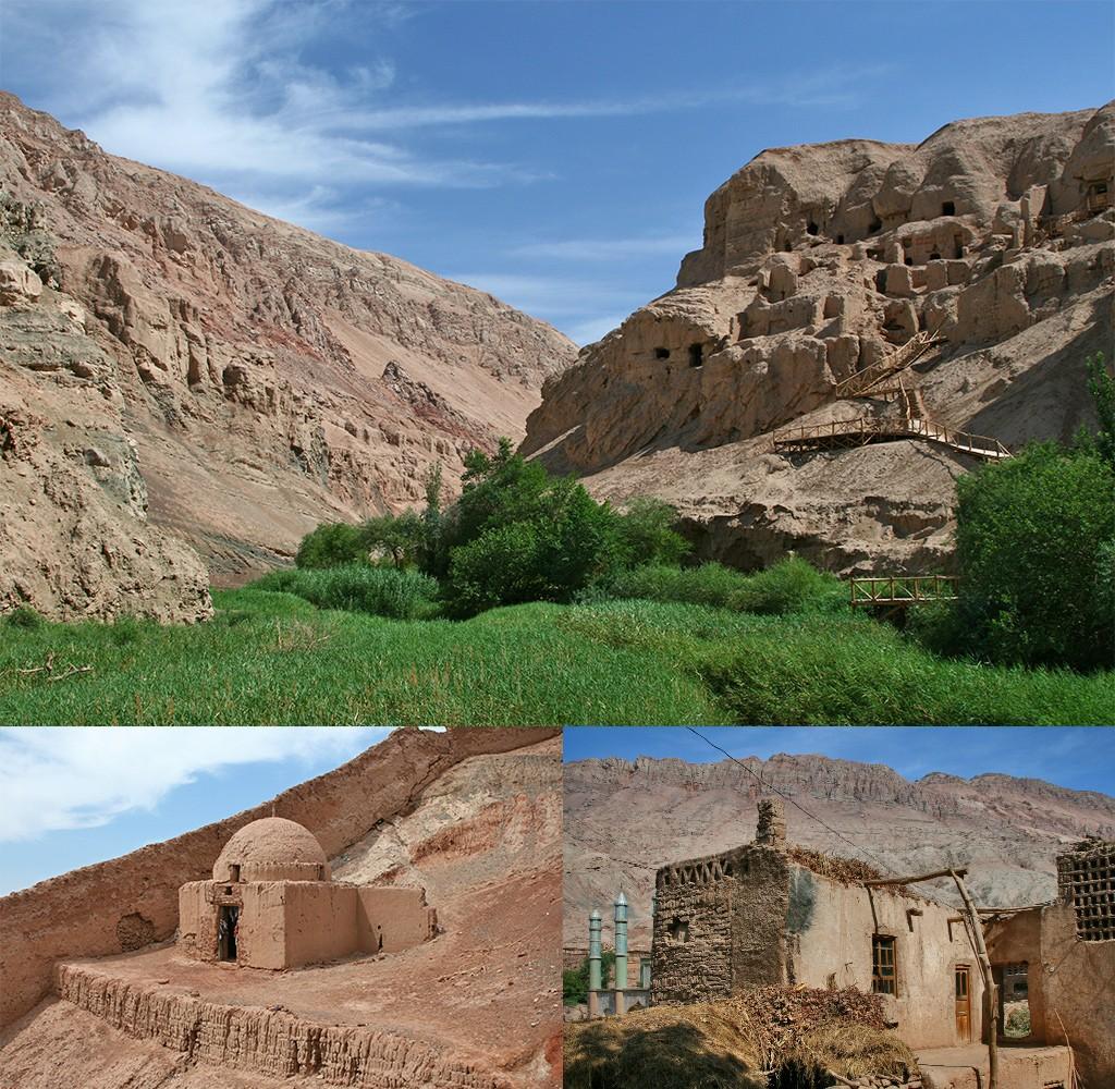 Tuyuq en de omgeving van de 1000 Buddha grotten
