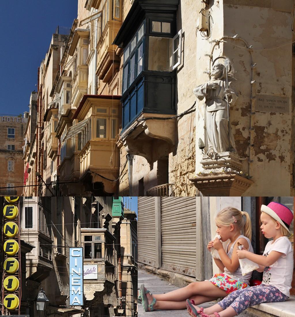 Valletta loggia's en sfeervolle straatjes