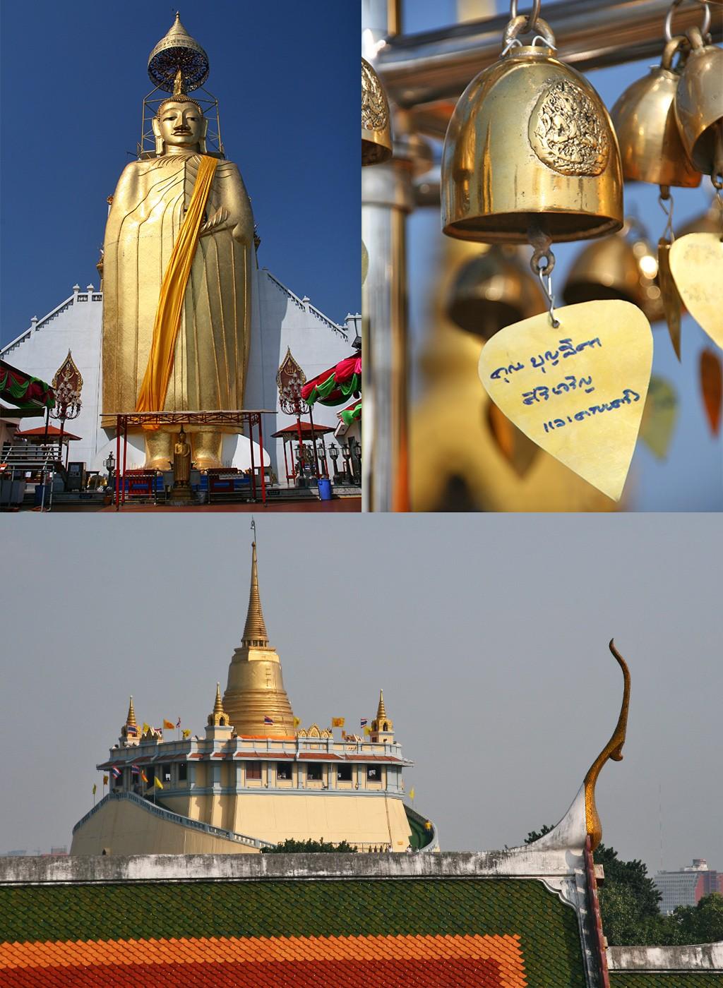 Wat Intharawihan en Wat Saket Bangkok