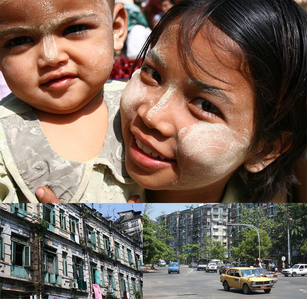 Yangon straatbeeld