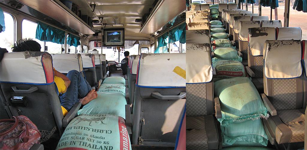 Zuid Laos bus Attapeu - Thateng