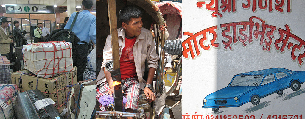aankomst Kathmandu