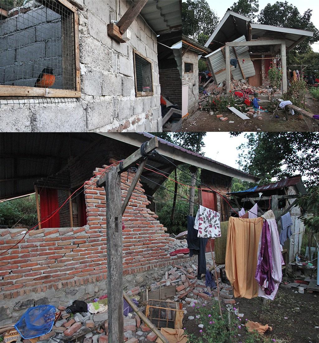 aardbeving Indonesië schade