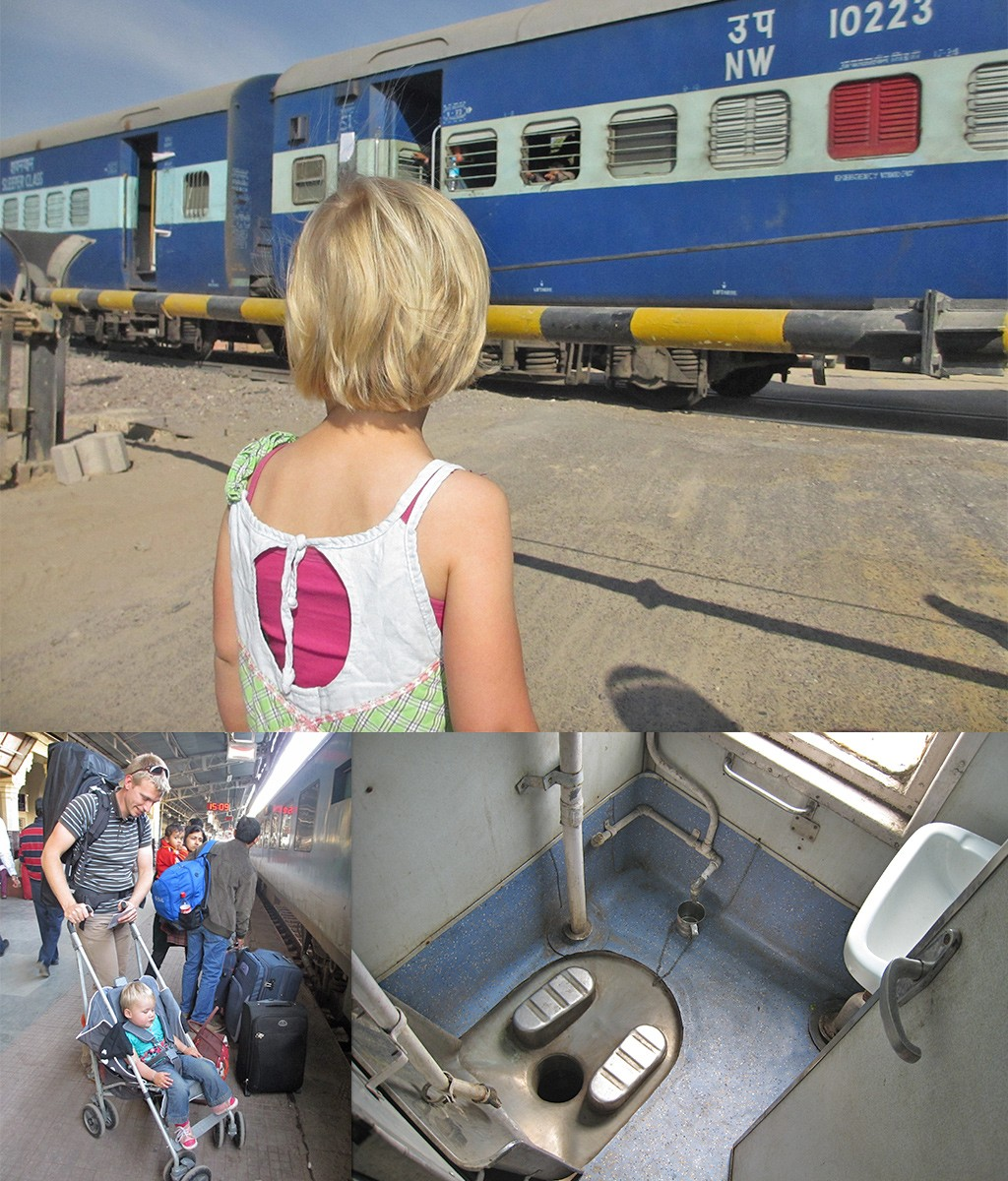 backpack route India trein