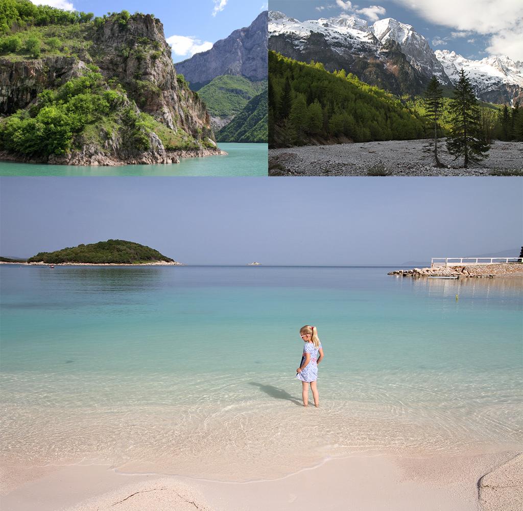 bergen en strand Albanië