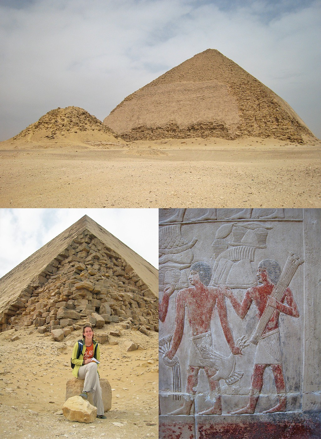 bijzondere piramides vlakbij Caïro