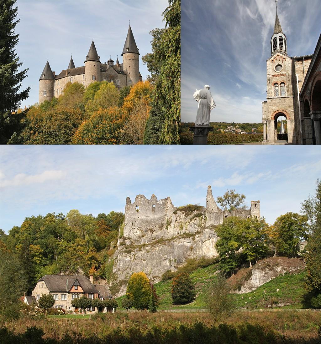 burchten en kloosters rondom Dinant en Namen