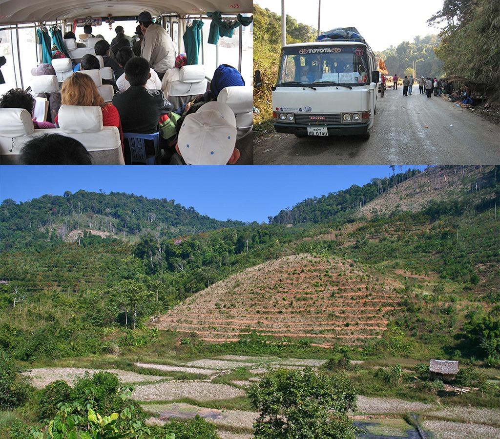 Bus door schitterend Noord Laos van Udomxai naar Luang-Namtha