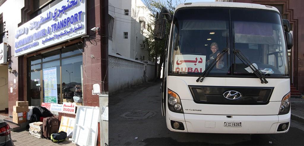 bus van Muscat naar Dubai