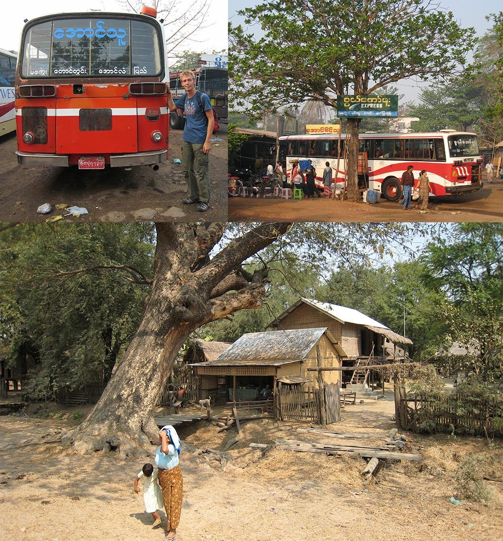 busreis door Myanmar