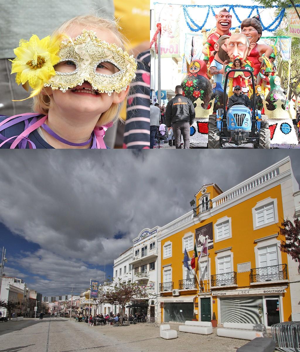 carnaval Loulé rotonde bij gemeentehuis