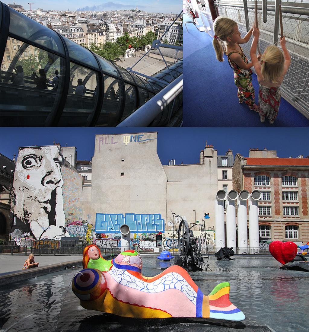 Centre Pompidou met kinderen