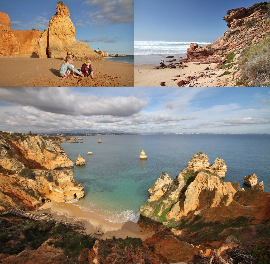 de Algarve in de winter - stranden