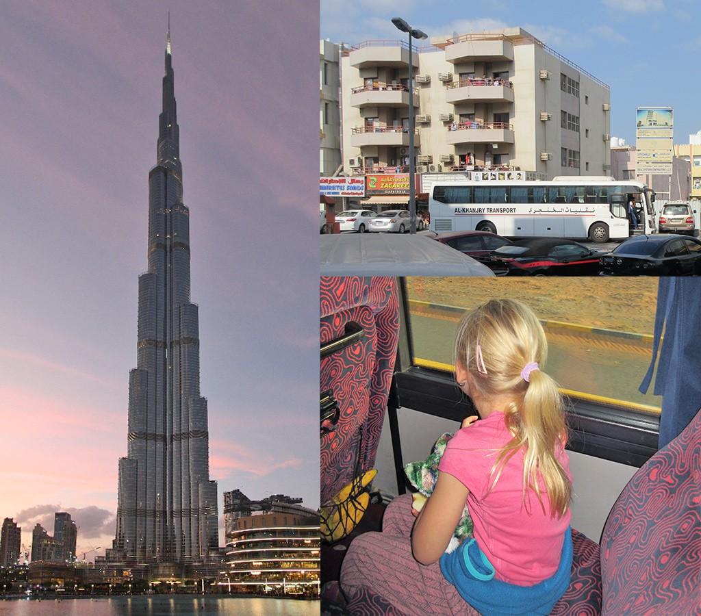 de bus van Dubai naar Muscat