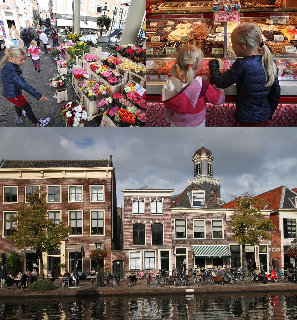 de markt van Leiden