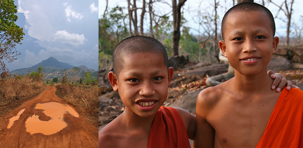 de omgeving van Tad Lo in Zuid Laos verkennen