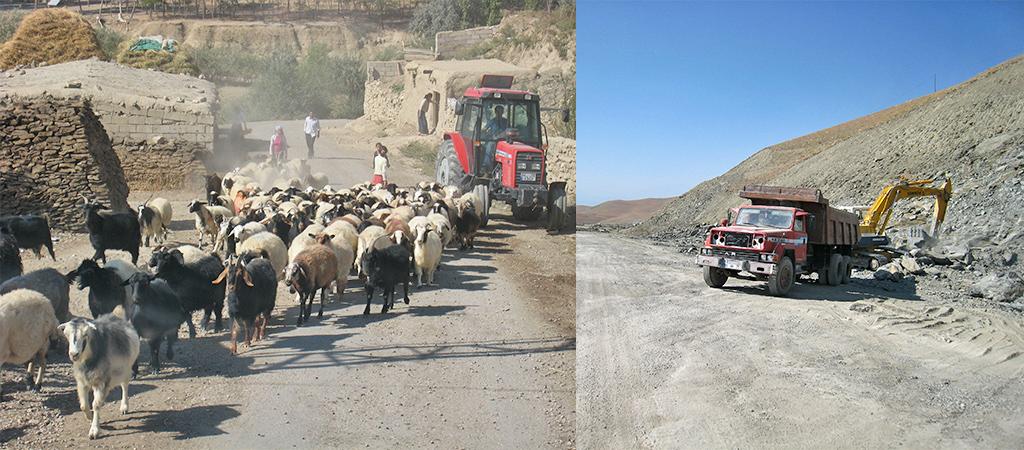 de wegen in Koerdistan bij Cavustepe