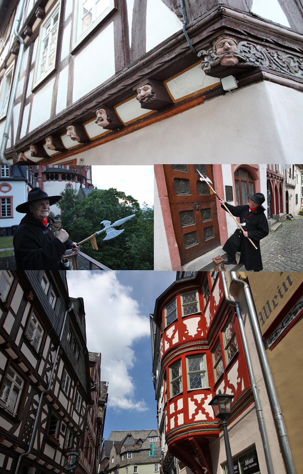 details Middeleeuwse huizen Limburg an der Lahn