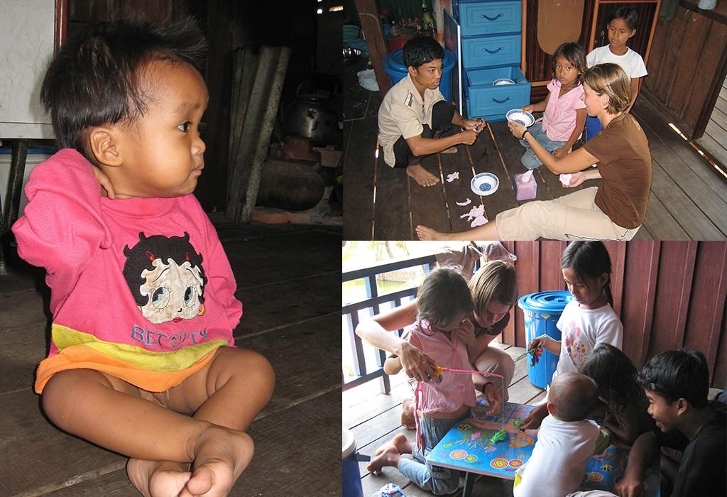 een weeshuis in Cambodja