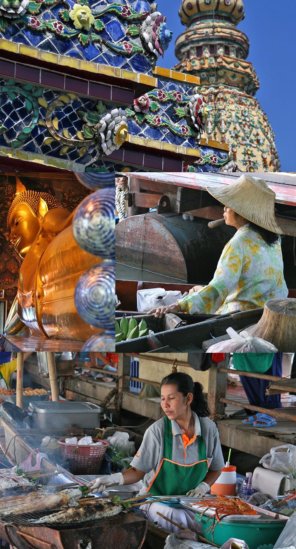 eerste keer Bangkok - Wat Po en floating market