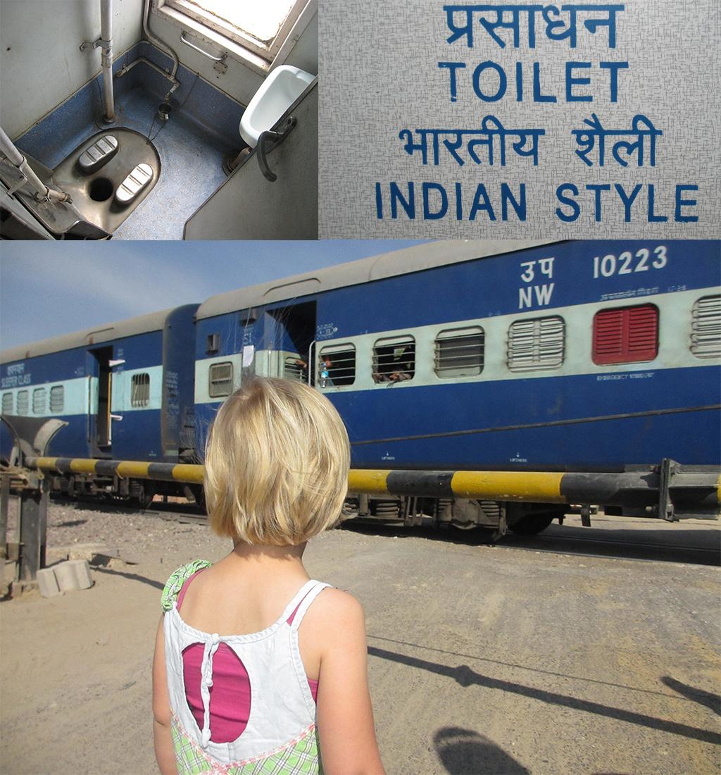 eerste keer India - trein