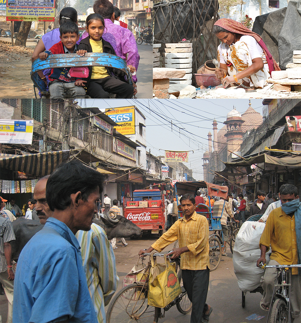 eerste keer India - veel onderbetaald werk op straat