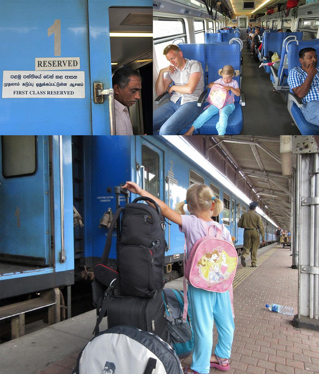eersteklas trein Sri Lanka