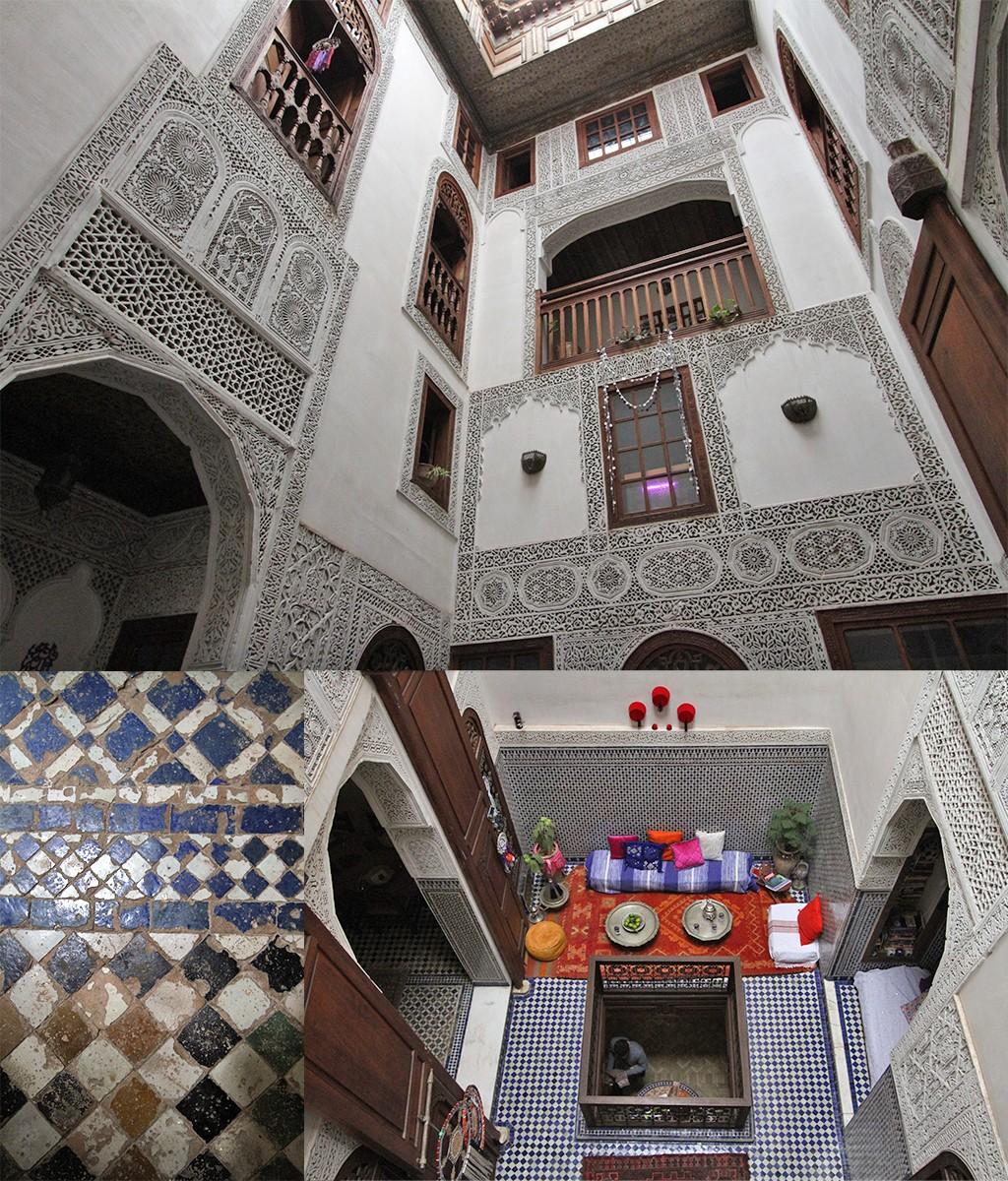 eten bij een local in Fez - de Dar