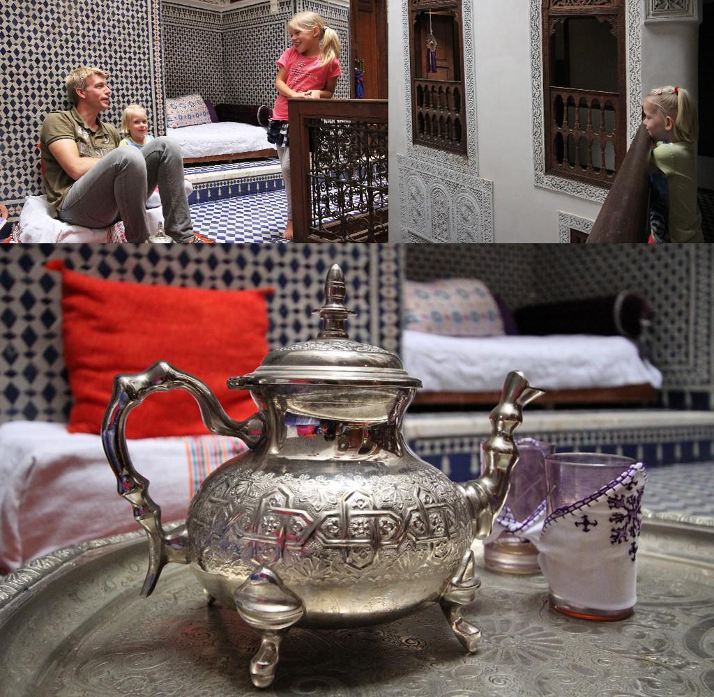 eten bij een local in Fez thuis