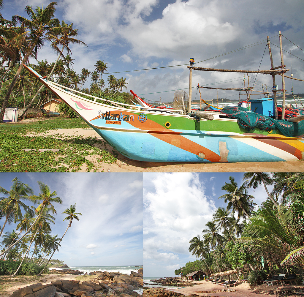 foto op hout van tropische bestemming