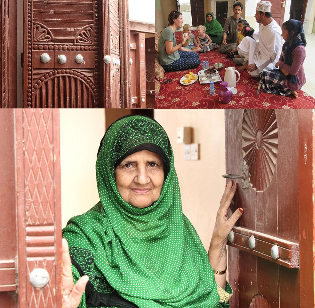eten bij de mensen thuis in Oman