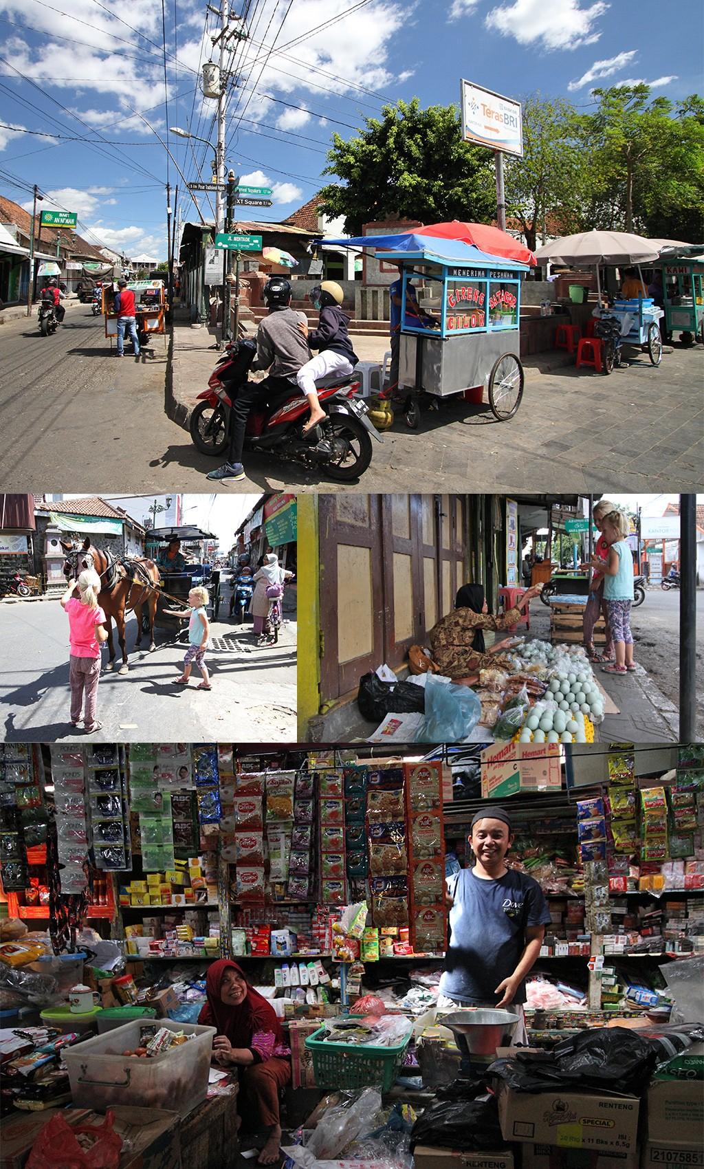 gezelligheid rond Pasar Kota Gede