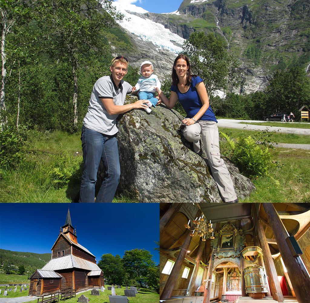 Aan gletsjers en staafkerken in Noorwegen geen gebrek