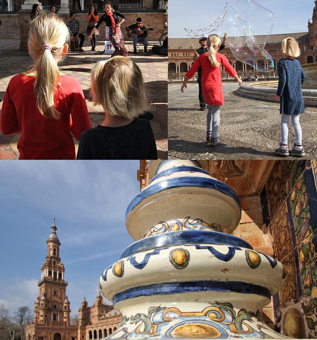 gratis zien en doen in Sevilla - Plaza de Espana