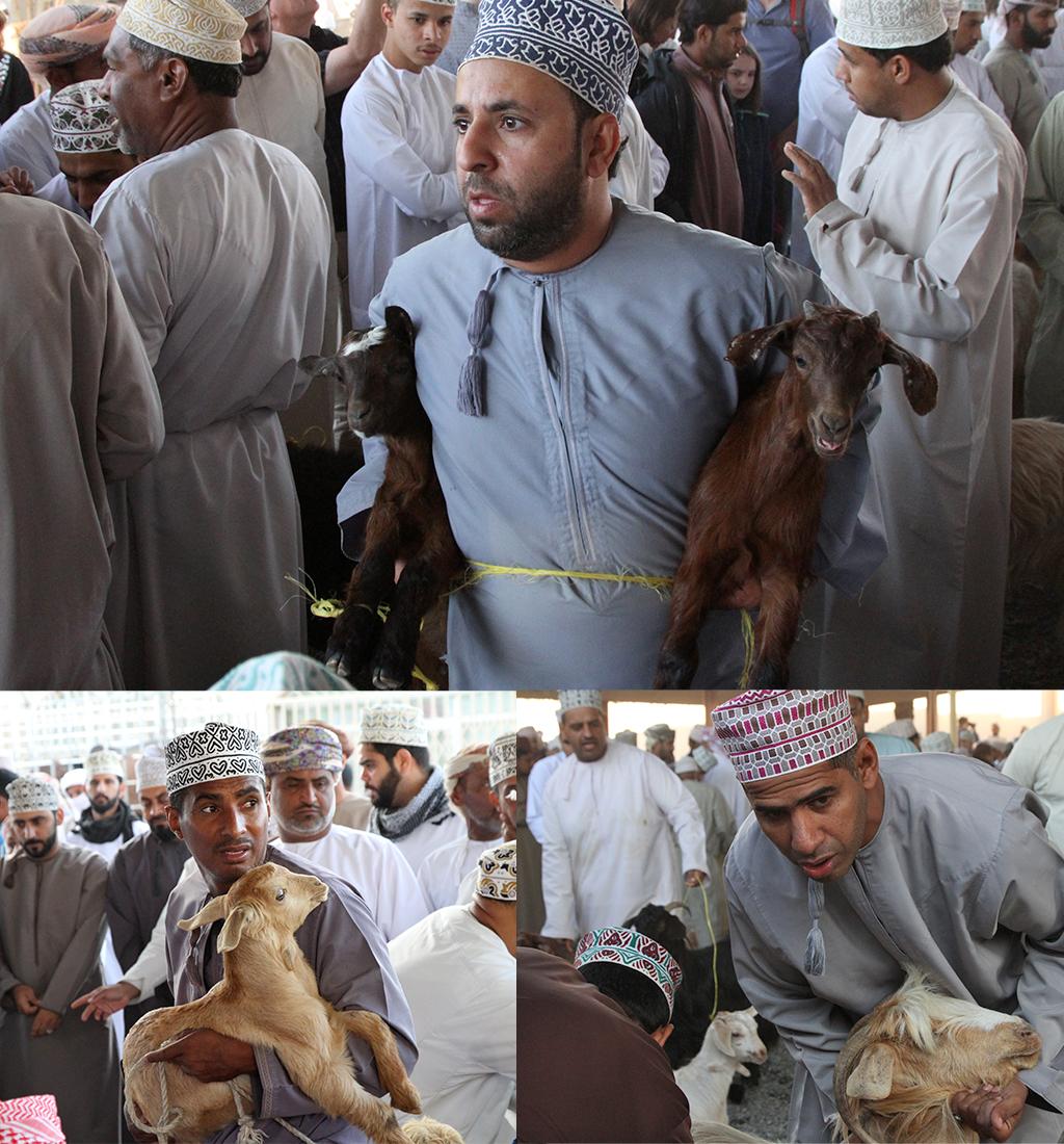 handelaren geitenmarkt Nizwa
