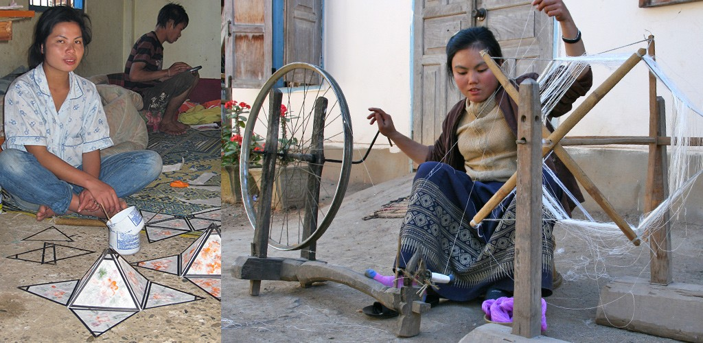 handwerkdorpje bij Luang Prabang