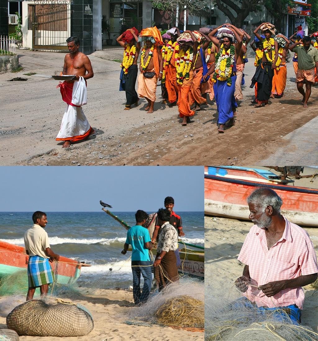 het gewone leven in Mamallapuram