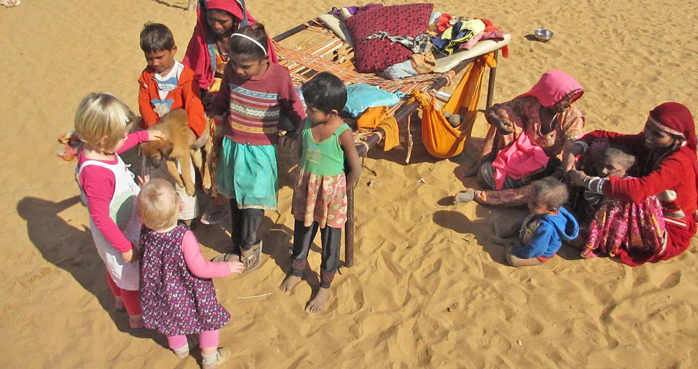 India met kinderen